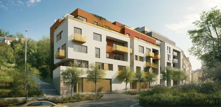 Luxusní byt s prostornou terasou Podolí 103m