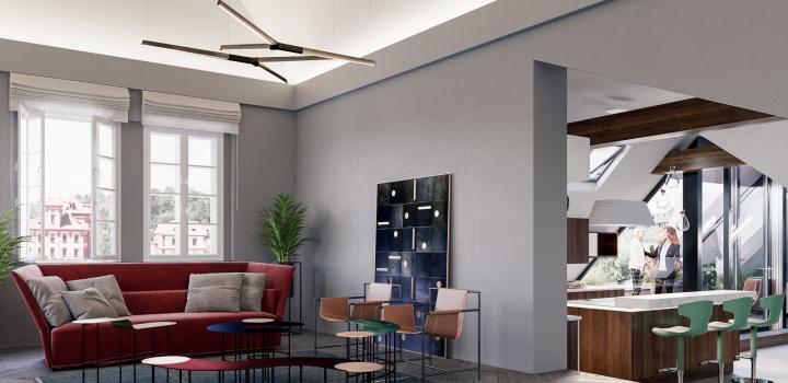 Luxusní penthouse Troja 550m