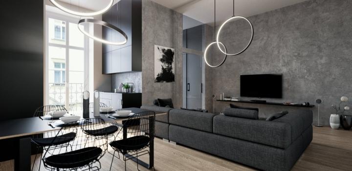 Luxusní byt s balkonem Praha 1 - 72m