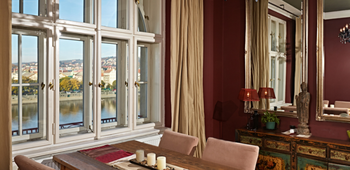 Byt s výhledem na Pražský hrad 94m