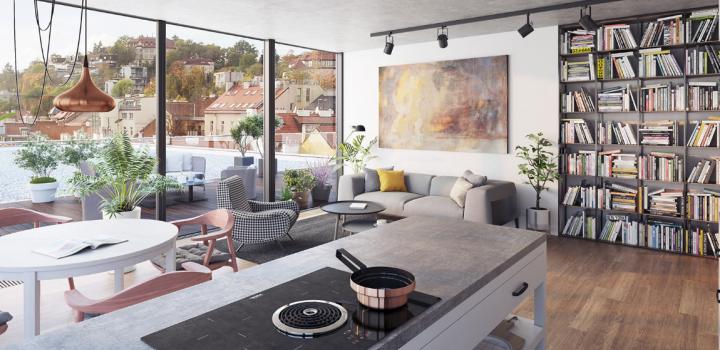 Luxusní byt na prodej Smíchov - Praha 5 - 112m