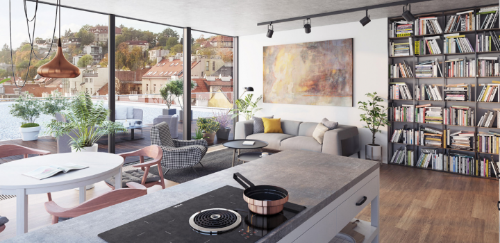 Luxusní byt na prodej Smíchov - Praha 5 - 104m