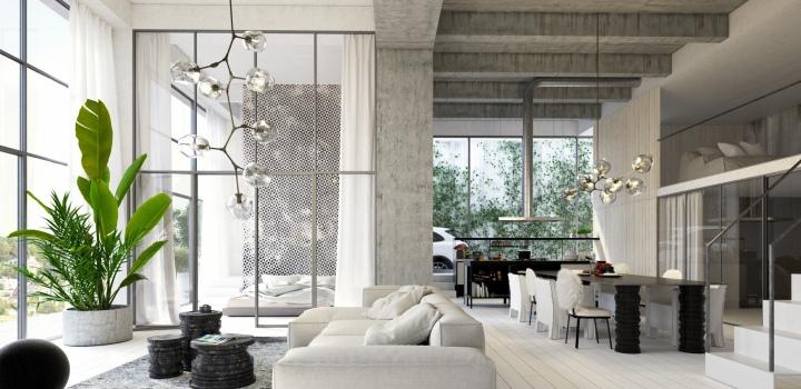 Luxusní loftový byt na Praze 4 - 169m
