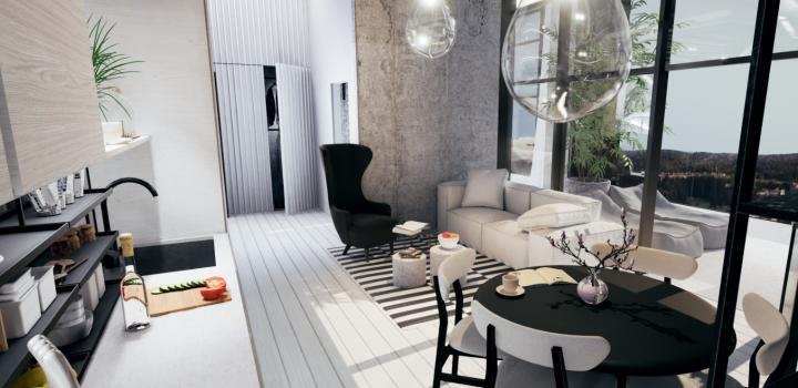 Luxusní loftový byt na Praze 4 - 52m