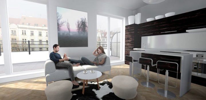 Luxusní byt s balkonem na prodej Vršovice 54m