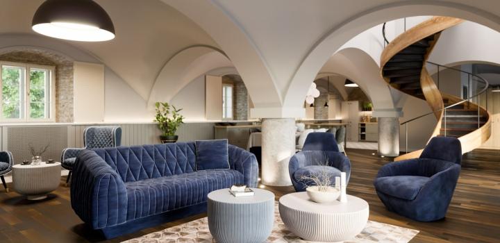 Luxusní byt v barokní budově Praha 6