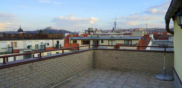 Mezonetový byt s terasou Praha 1-208m
