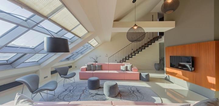 Luxusní loftový byt s terasou Praha 1 - 310m