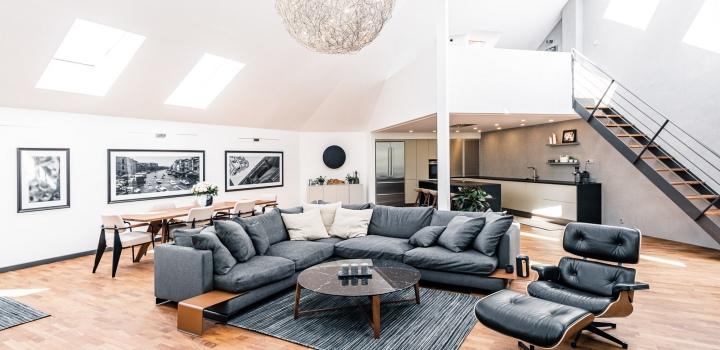 Luxusní penthouse na Vinohradech - 343m