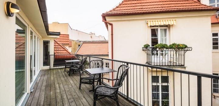 Luxusní byt s terasou v historickém centru