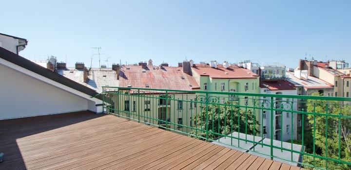 Mezonetový byt na pronájem - Praha 3