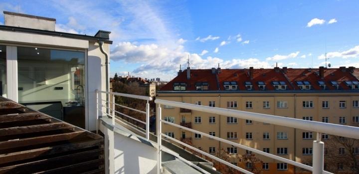 Luxusní byt s terasou Vinohrady 156m