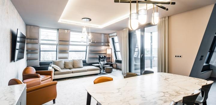 Luxusní penthouse Troja 444m