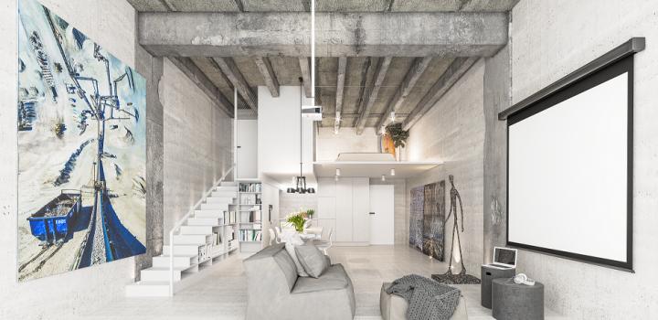 Luxusní loftový byt 123m na Praze
