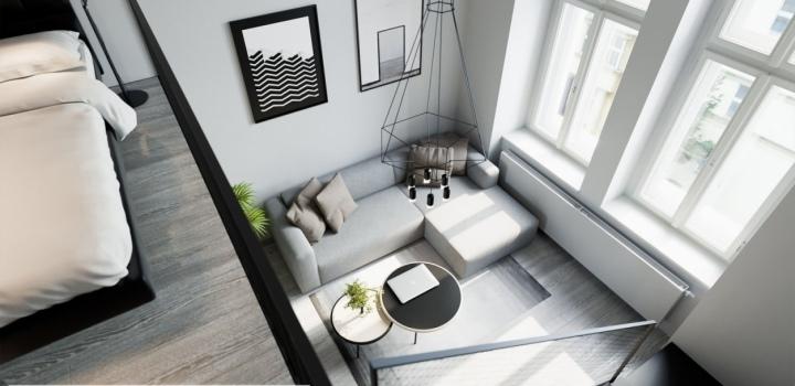 Luxusní byt s balkonem Nové Město - 72m