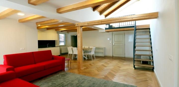Luxusní byt s terasou k pronájmu Praha - Nové