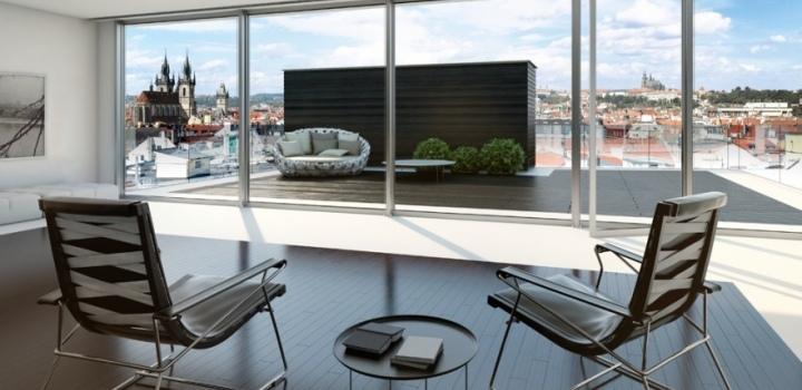 Luxusní byt s výhledem na Pražský hrad 281m