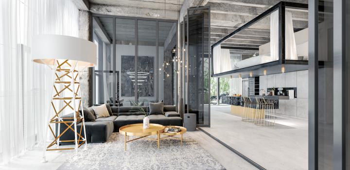 Luxusní loftový byt na Praze 4 - 96m