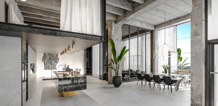 Luxusní loftový byt Praha 4 - 86m