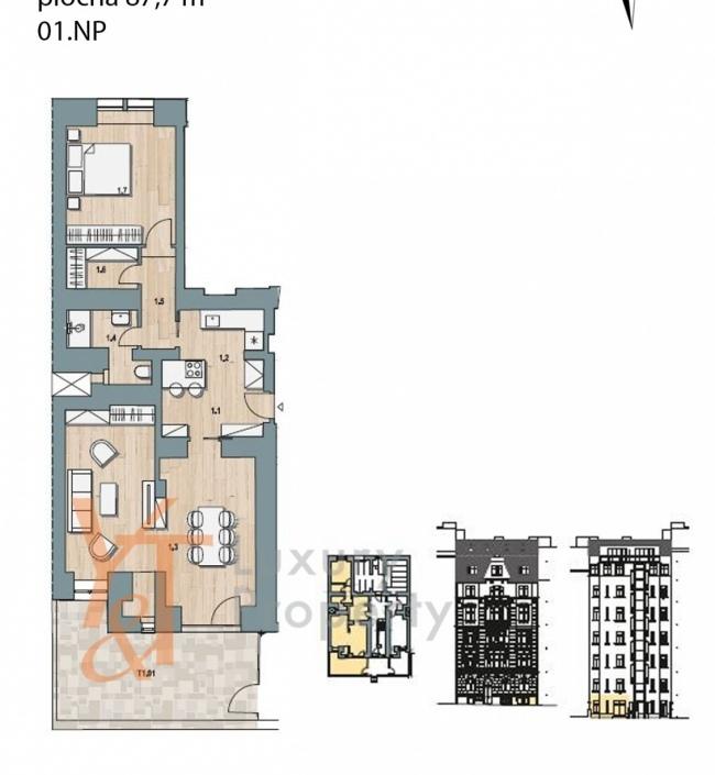 Prodej bytu Vinohrady - 88m 1