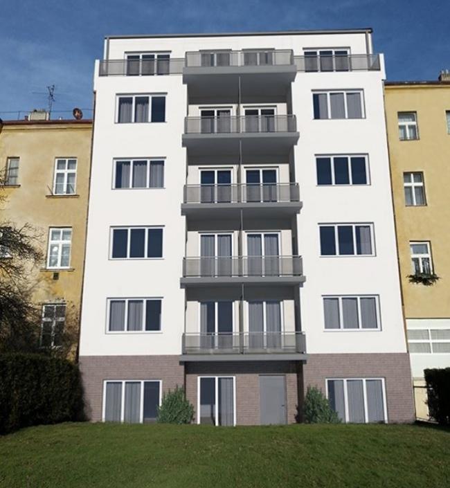 Luxury apartment with front garden in Podolí, 38 m 1