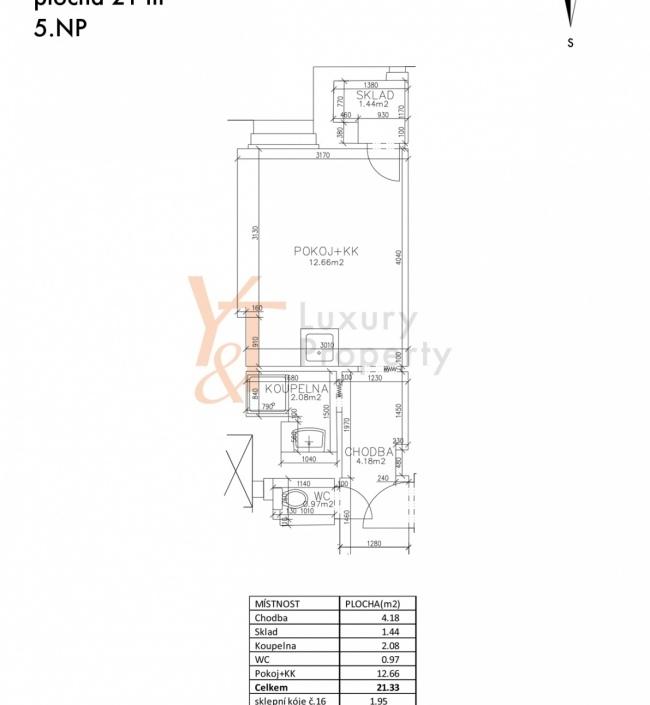 Prodej bytu Vinohrady - 21m 1