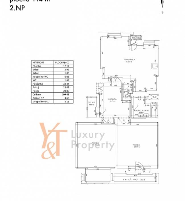 Prodej bytu Vinohrady - 114m 1