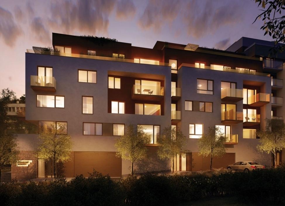 Luxusní byt s prostornou terasou Podolí 103m 0