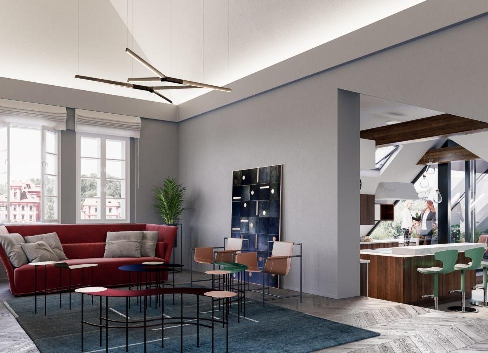 Luxusní penthouse Troja 550m 0