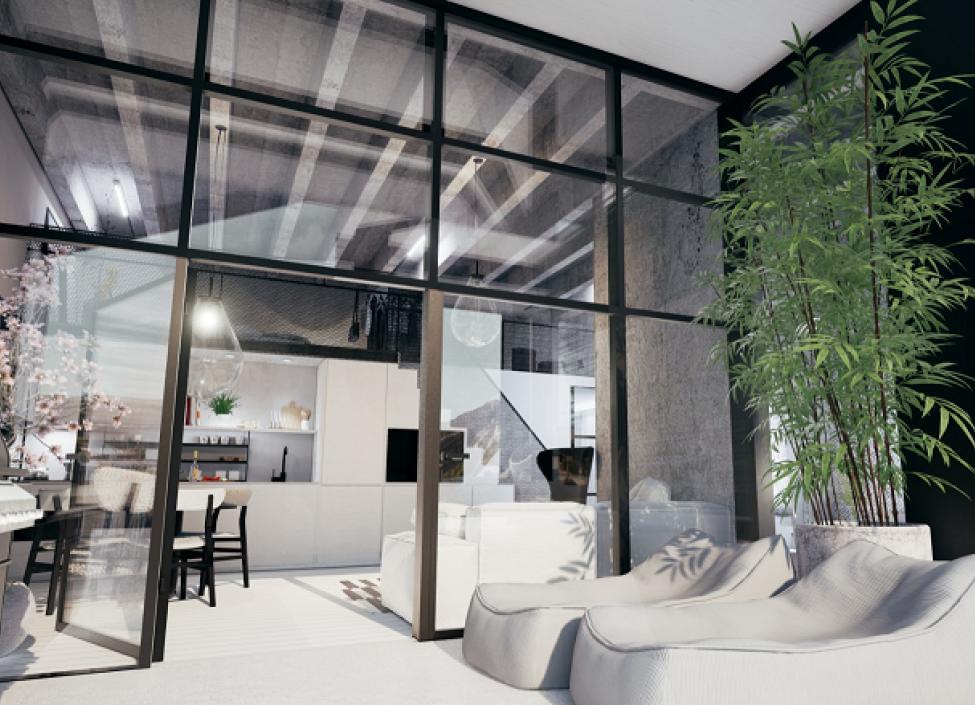 Luxusní loftový byt Praha 4 - 85m 0