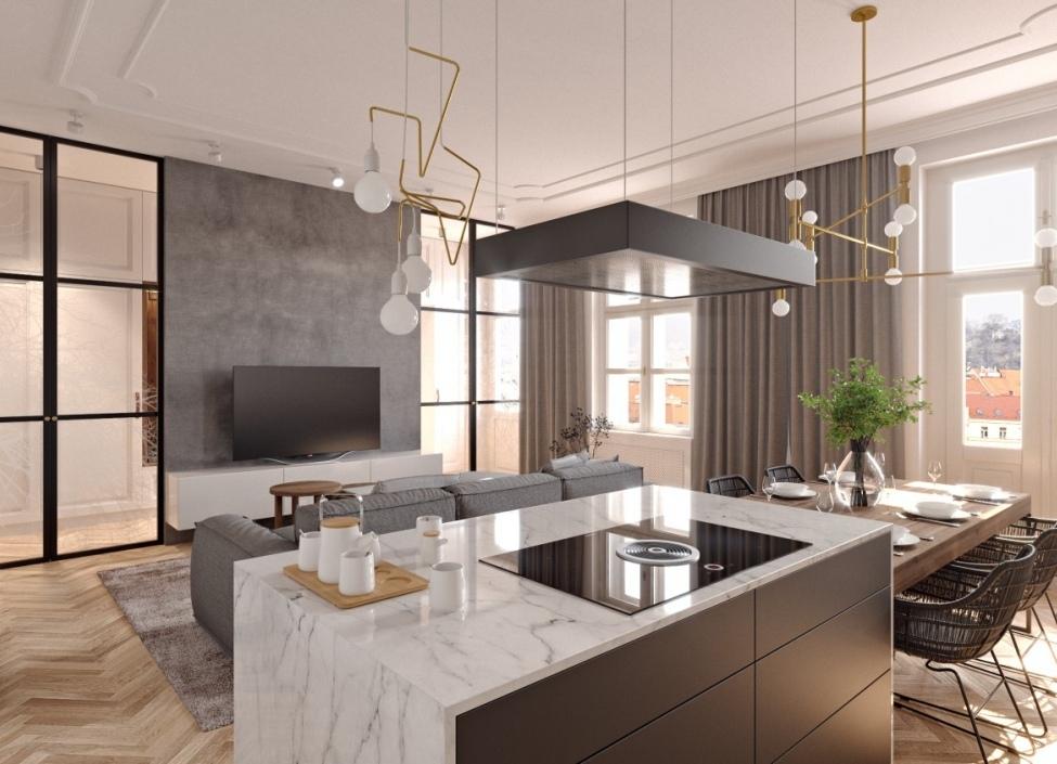 Luxusní byt u Riegrových sadů - 66m 0