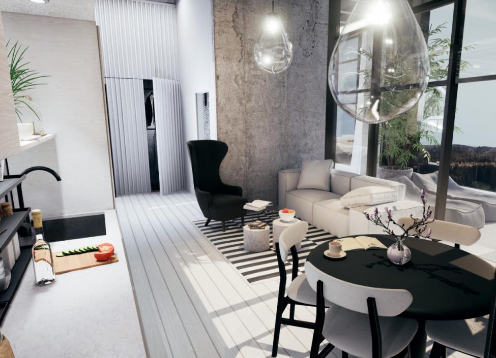 Luxusní loftový byt na Praze 4 - 94m 0