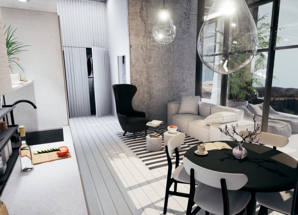 Luxusní loftový byt na Praze 4 - 52m 0