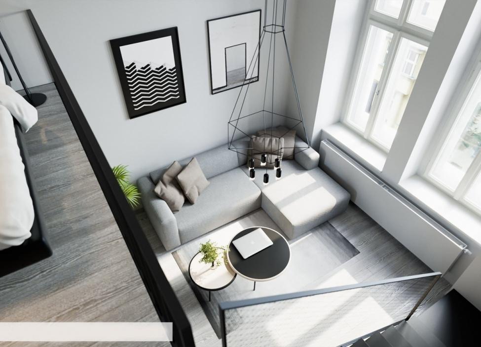Luxusní byt s balkonem Nové Město - 72m 0