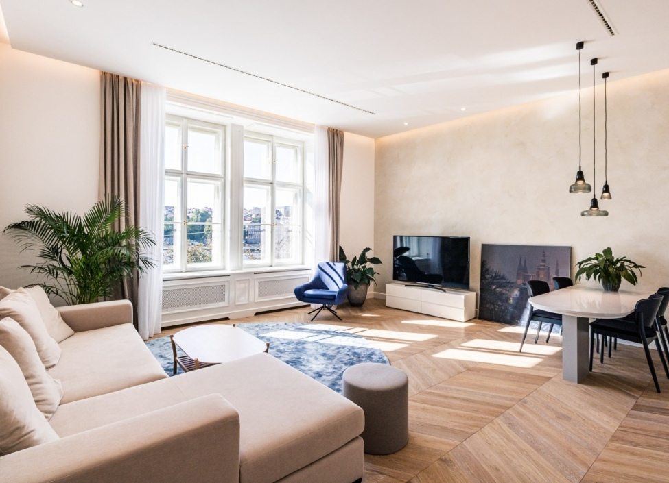 Luxury apartment for rent with a view of the Smetana riverside Prague 1 - 106m 0