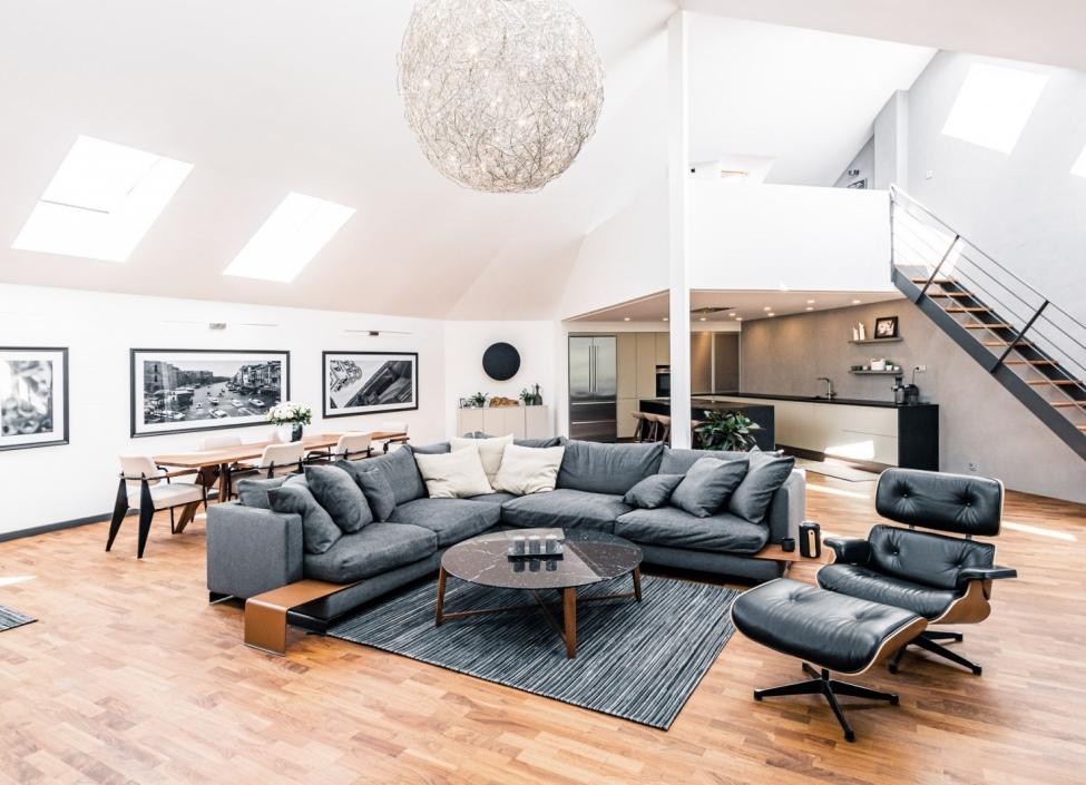 Luxusní penthouse na Vinohradech - 343m 0