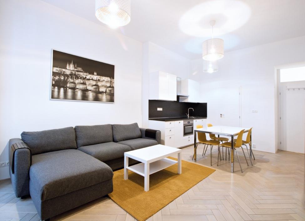 Luxusní byt na pronájem Malá Strana 50m 0
