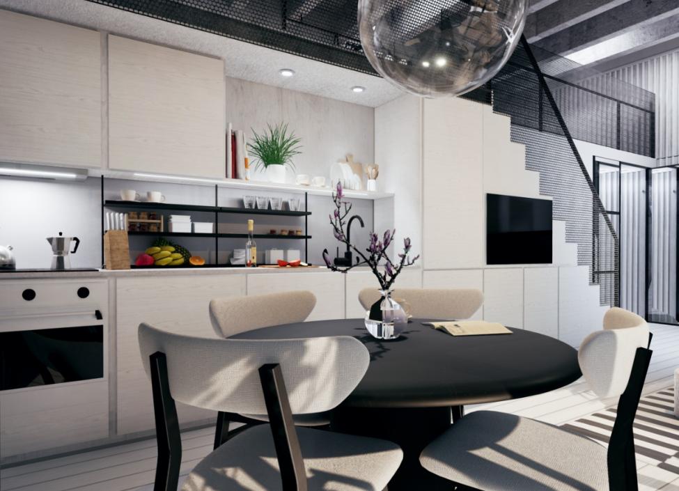 Luxusní loftový byt na Praze 4 - 56m 0