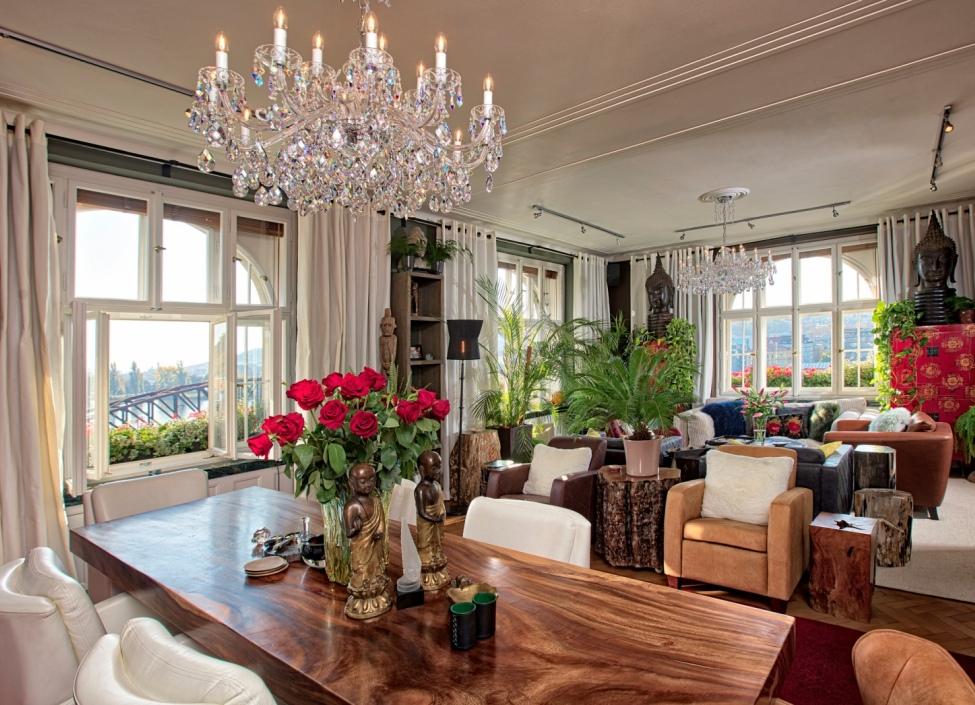 Luxusní penthouse k pronájmu s výhledem na Vyšehrad 600m 1
