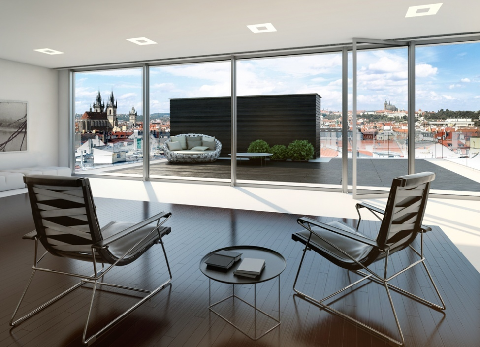Luxusní byt s výhledem na Pražský hrad 281m 0