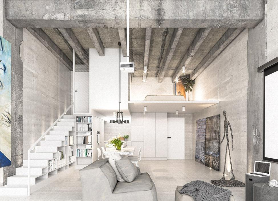 Luxusní loftový byt na Praze 4 - 58m 1
