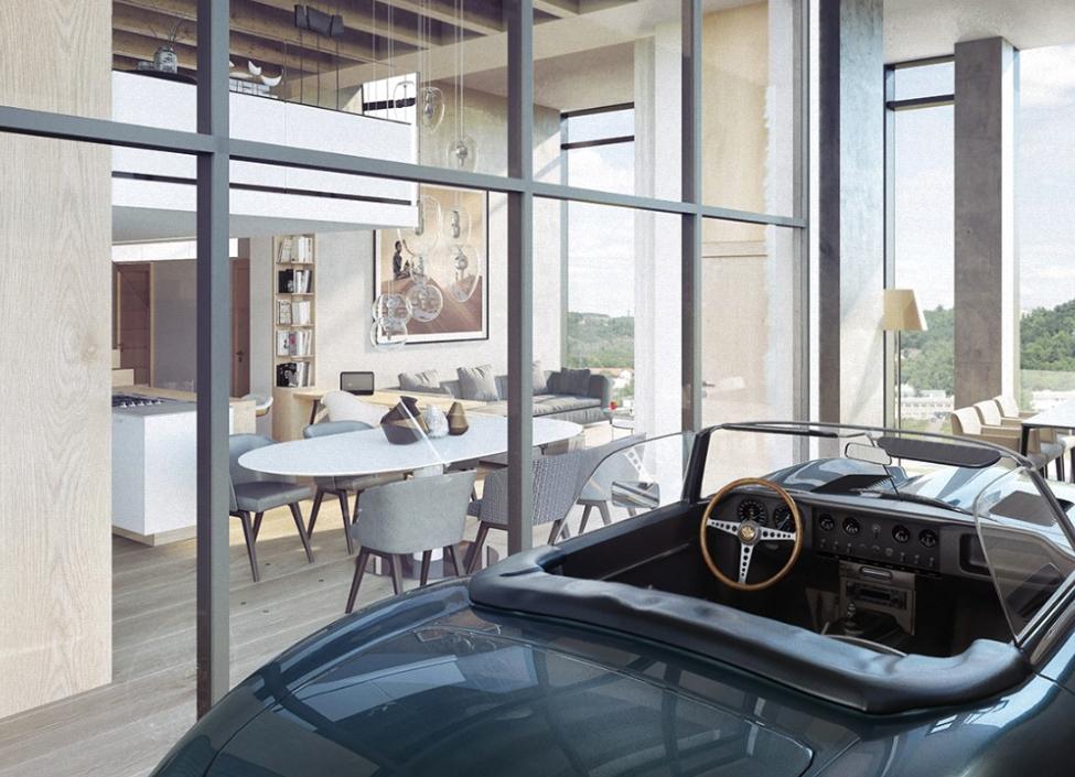 Luxusní loftový byt na Praze 4 - 191m 0