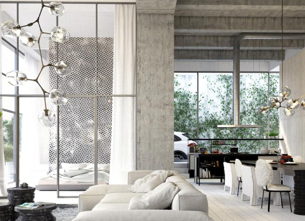 Luxusní loftový byt na Praze 4 - 96m 0